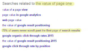 Value of Page One